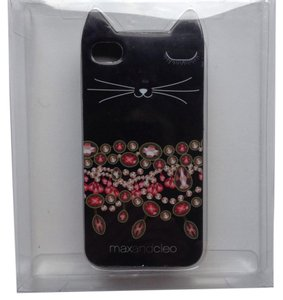 Max and Cleo NEW iPHONE 4 / 4S CELL PHONE CASE BLACK CAT EAR EARS KITTY PROTECTOR MAXANDCLEO
