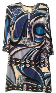 Ali Ro short dress Blue white black on Tradesy