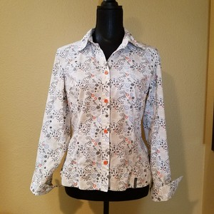 Merrell Blouse Shirt Floral Blouse Print Floral Button Down Shirt Multi