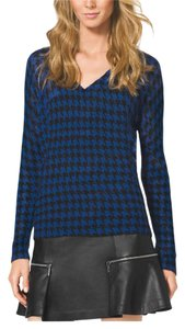 MICHAEL Michael Kors Wool Houndstooth Sweater