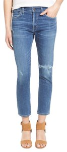Citizens of Humanity Girlfriend Straight Leg Jeans-Distressed