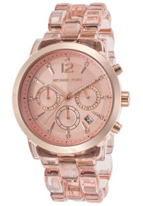 Michael Kors NWT Michael Kors Audrina MK6203 Rose Gold Acetate Chronograph Watch