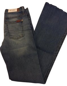 7 For All Mankind Denim Boot Cut Jeans-Medium Wash