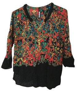 Plenty by Tracy Reese Color-blocking Beaded Top Multi color