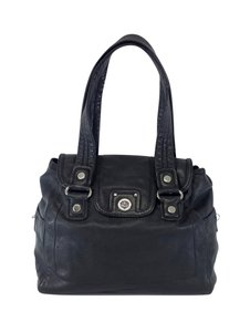 Marc by Marc Jacobs Black Leather Flapover Hobo Bag