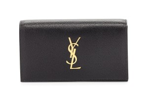 Saint Laurent Black Gold Clutch