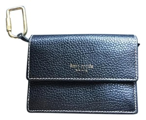 Kate Spade Kate Spade Black Leather Keychain Wallet