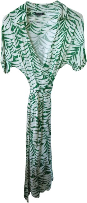 green/white Maxi Dress by Banana Republic