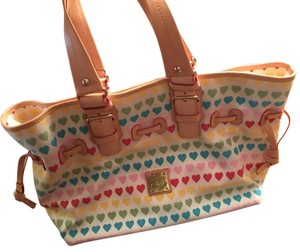 Dooney & Bourke Tote in White With Hearts