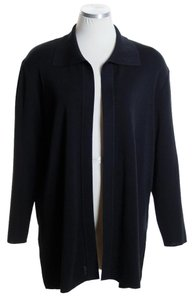 Misook Knit Long Sleeve Solid Black Jacket