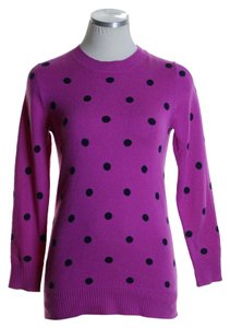 J.Crew Knit Polka Dot Long Sleeve Sweater