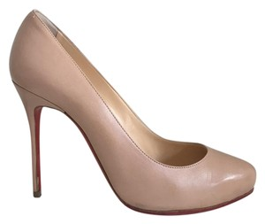 Christian Louboutin Leather Classic Chic Nude Pumps