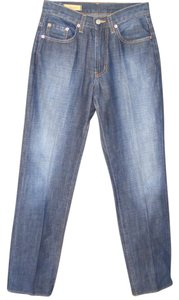 Red Engine Broken In American Made Pockets Zipper Fly Relaxed Fit Jeans-Dark Rinse