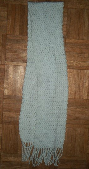 Unknown Baby Blue Knit Crochet Soft Woven Boho Scarf