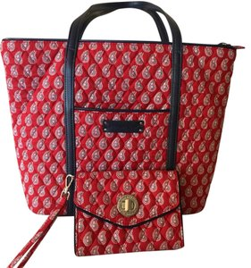 Vera Bradley Tote in Red And Navy