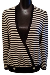 Valentino Sweater Miss V Made In Italy Striped Sweater Cardigan