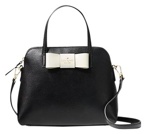 Kate Spade New York Satchel in black/ porcelain