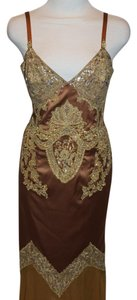 Mandalay Beaded Formal Curves Chiffon Dress