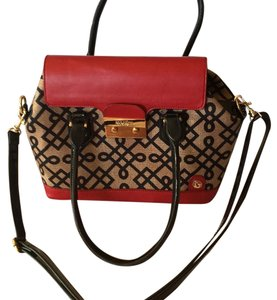 Spartina 449 Satchel in Red Black Tan