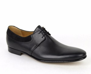 Gucci Leather Lace Up Oxford Shoes W/suede Detail G 10/us 11 368445 1000