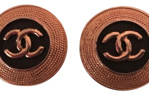 Chanel Vintage Chanel Disc Earrings