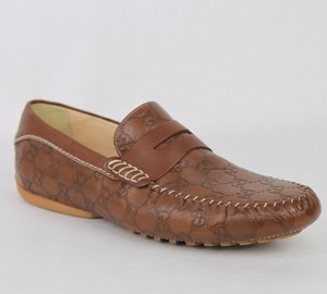 Gucci Guccissima Leather Loafer Moccasin Driver G 7/ Us 7.5 170618 2535
