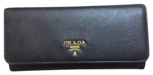 Prada Saffiano Leather Continental Wallet