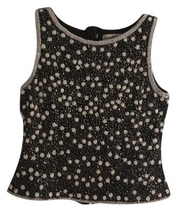Adrianna Papell Top Black / White