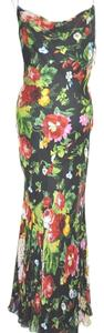 Multi color Maxi Dress by Clips Floral Print Maxi Silk Size 44 Resort