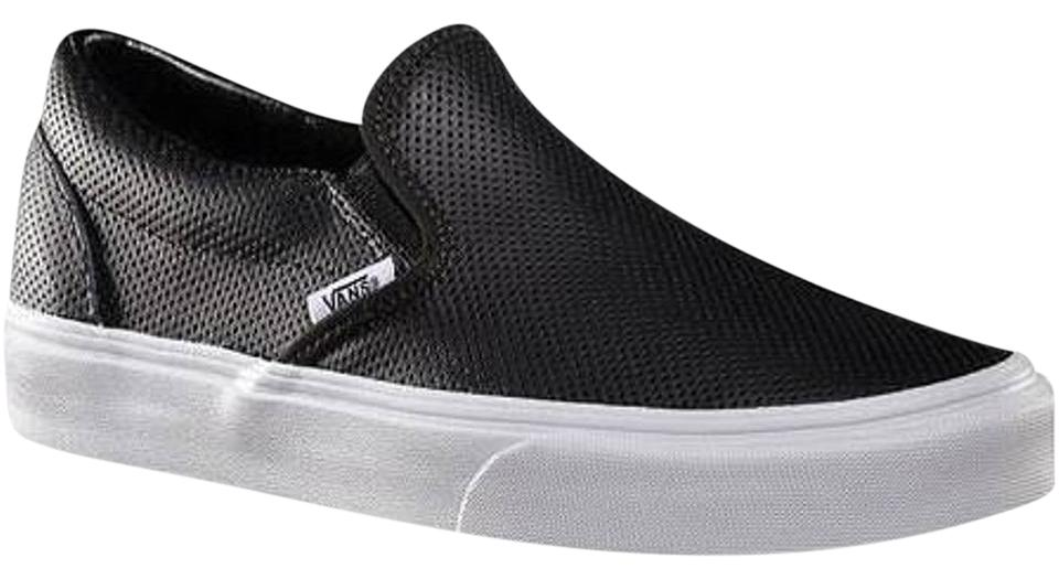 39c45ee29e Vans Leather Leather Slip Ons Perforated Slip On Black Athletic Image 0 ...