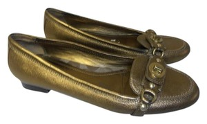 Coach Designer Loafer bronze metallic Flats