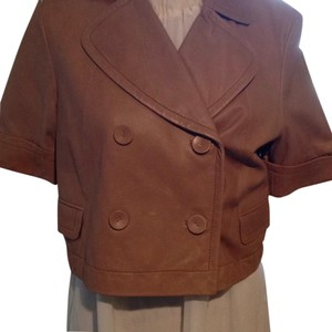Kenneth Cole Camel Leather Jacket