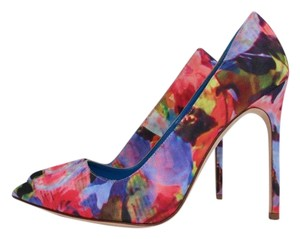 Manolo Blahnik Floral Multi Pumps