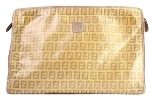 Fendi Poche Cosmetic Make Up Pochette BEIGE Clutch