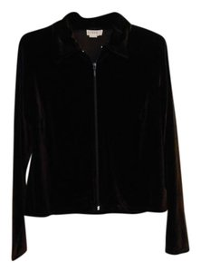 J.Crew Velour Zip Dark Brown Jacket