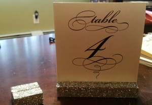 Wedding Place Card Holders And Table Number Holders. Glitter. Sparkle