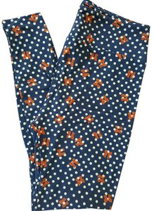 LuLaRoe New LuLaRoe OS Leggings Blue White Polka Dot Red Bows Minnie Mouse Leggings