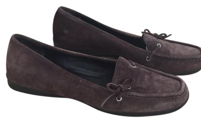 Item - Brown Suede Bow Loafer Wedges Size US 7 Regular (M, B)