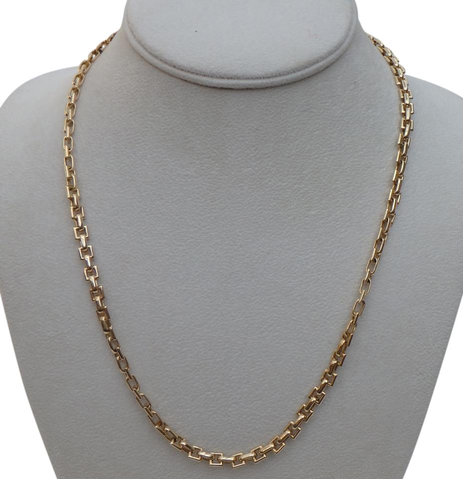 gold yg web chain yellow colleen necklace metal mauer long product black pendant and square rounded on mixed