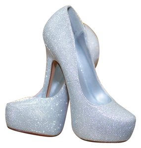 Call It Spring Silver with sparkles Platforms