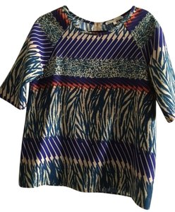 Collective Concepts Trendy Zipper Top Multi color