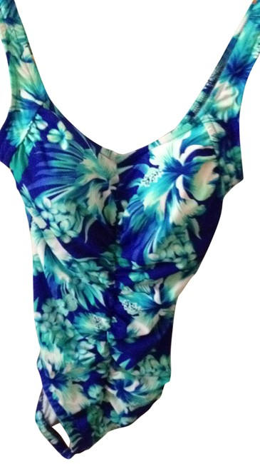 Preload https://item2.tradesy.com/images/anthropologie-bluegreenwhite-swimsuit-one-piece-bathing-suit-size-12-l-19906-0-0.jpg?width=400&height=650
