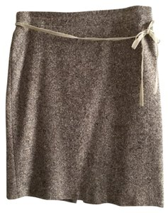 J.Crew Wool Pencil Trendy Office Brown Skirt brown/tan mixed