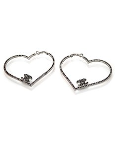 Chanel Chanel CC Heart Earrings