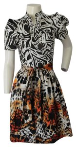 Diane von Furstenberg short dress Dvf Wrap Mixed Prints on Tradesy