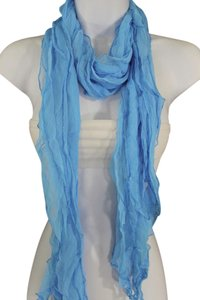 Other Light Baby Blue Fashion Long Neck Scarf Tie Soft Wavy Fabric Wrap
