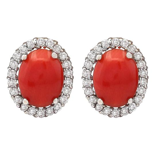 Preload https://img-static.tradesy.com/item/19906132/red-295-carat-natural-coral-14k-white-gold-diamond-earrings-0-1-540-540.jpg