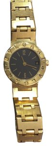BVLGARI 1990s Lady's Bvlgari 18K Gold Date Watch, Vintage Bvlgari Watch