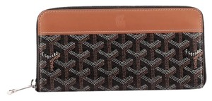 Goyard Canvas Leather Black Clutch