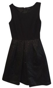Tahari A Line Metallic Dress